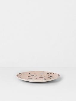 Bamboo Plate - Terrazzo - Rose