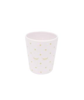 Mugg Baby pink/ gold dots