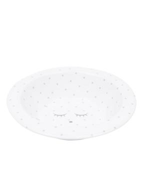 Skål white/ silver dots