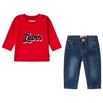 Present Set Jeans och Långärmad T-Shirt