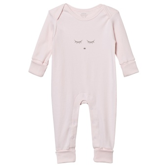 Sleeping Cutie Coverall Pink/Grey