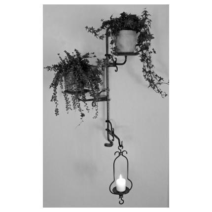 Combisystem, blomfat,ljusfat i smide från Wägerths Konstsmide