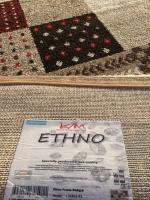 Ethno frame röd/beige
