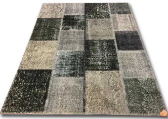Patchwork 837 svart grå