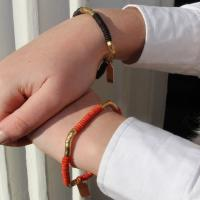 Mini Bracelet Linnea, brown/gold