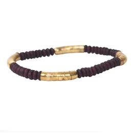 Mini Bracelet Linnea, purple/gold