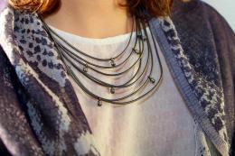 Necklace Oak, grey