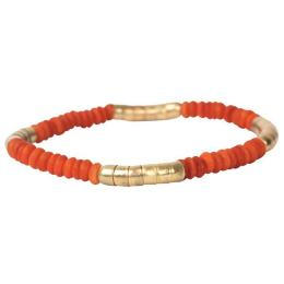 Mini Bracelet Linnea, orange/gold
