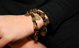 Bracelet Valencia, gold/black