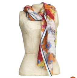 Scarf Mistral, red mix