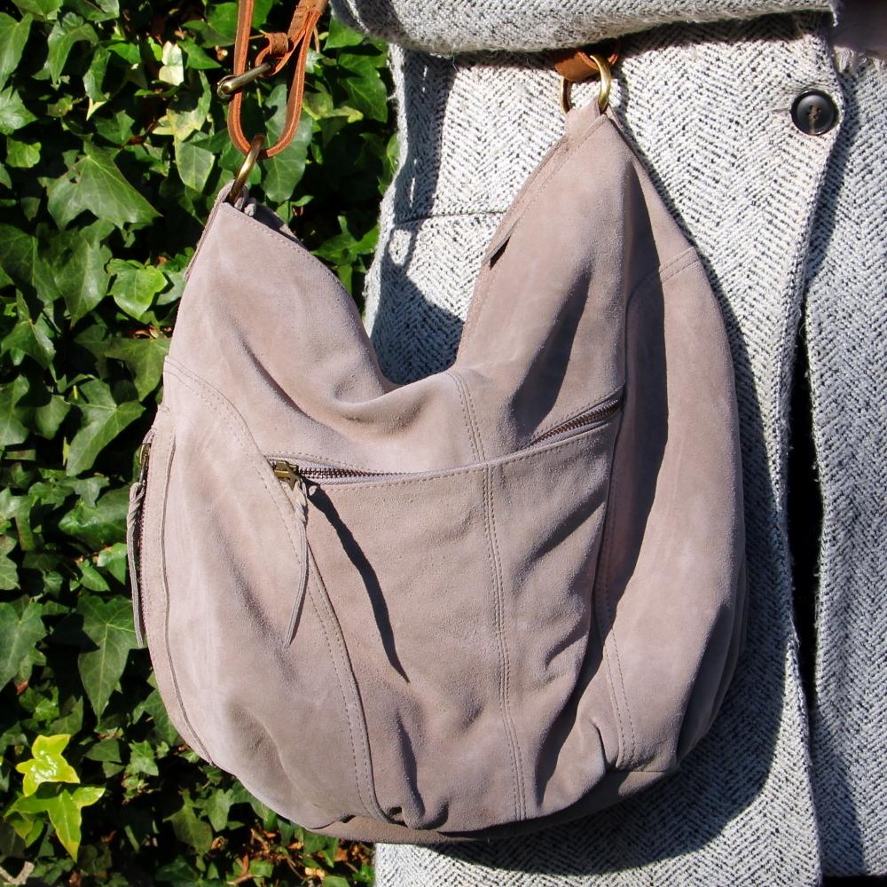 Shoulder bag Indiana, taupe