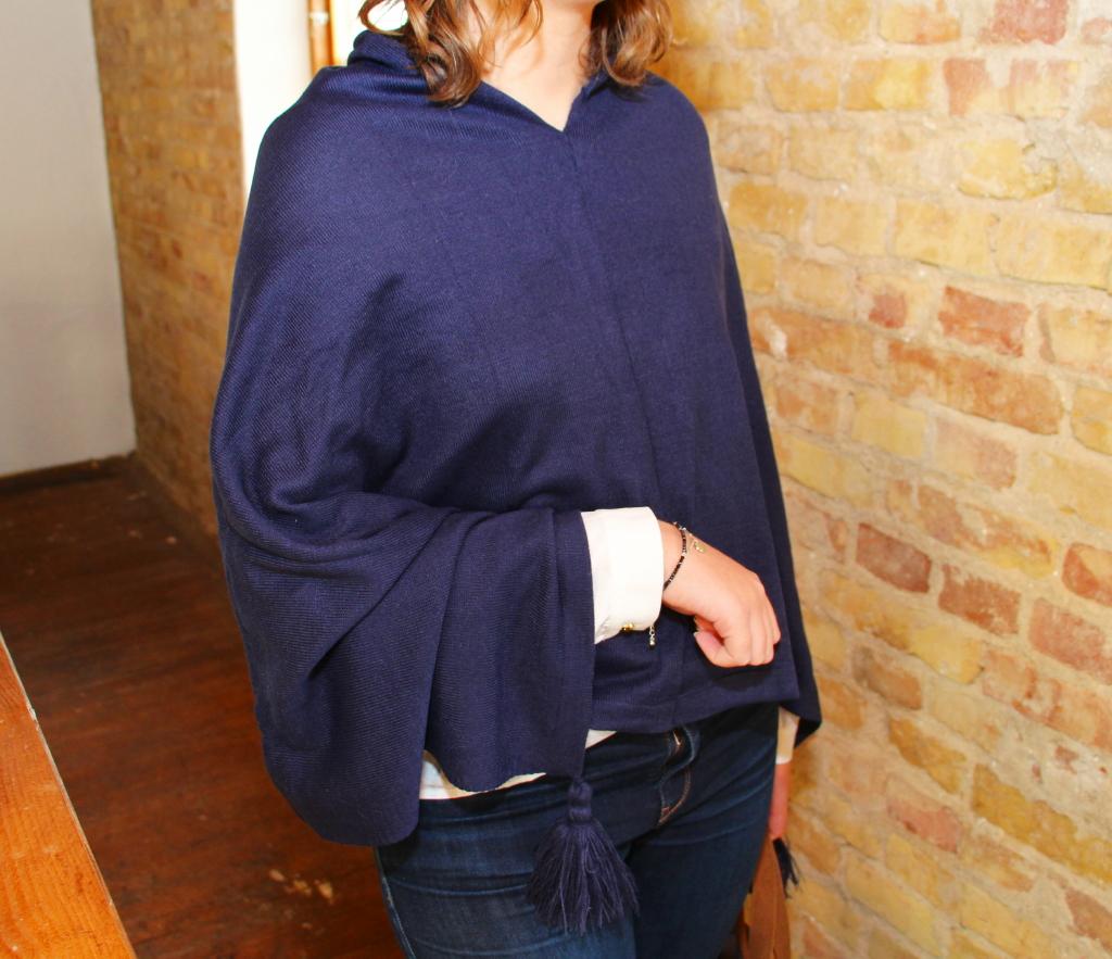 Poncho Karen, dark blue