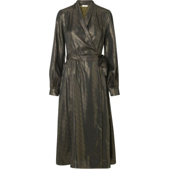 Margaret Wrap Dress - Charcoal
