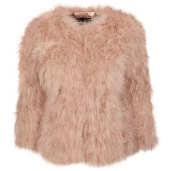 MANDY (JACKET OF MARABOU FEATHER)