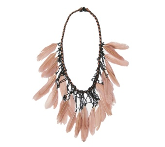 DRAMA FEATHER NECKLACE PINK