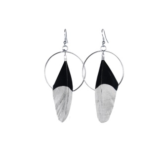 FEATHER SMALL EAR BLACK