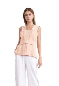 Stella silk crepe top