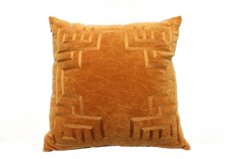 THG Cushion Orange Velvet