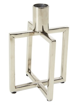 Candle Holder Square Silver