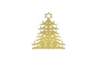 Cooee AMERICAN CHRISTMAS TREE 280MM BRASS