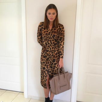 Karmamia Leopard Wrap Dress