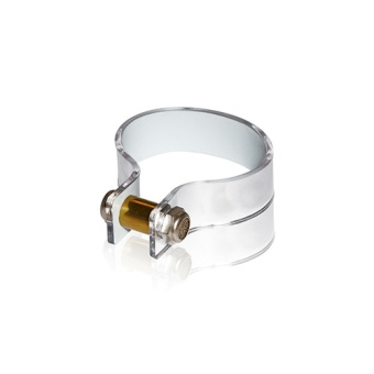 Nut Cuff 20mm Mirror Silver