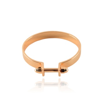 Nut Cuff Rose Gold Plated 18k
