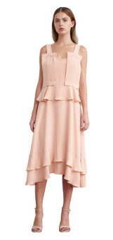 Amy silk flounce dress