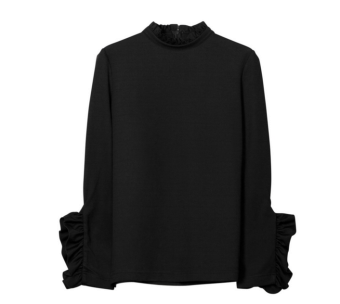 High neck topp-ruffles, By Timo