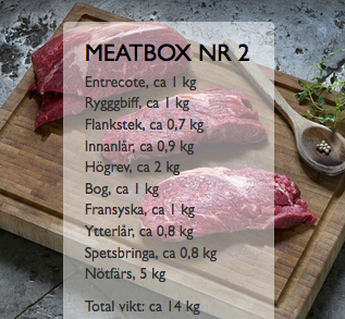 Meatbox #2 - Nötbox med entrecote m.m.