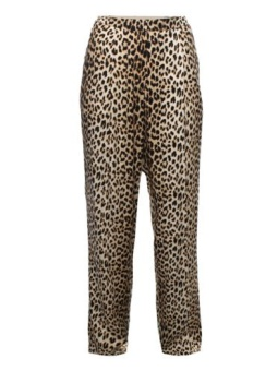 A'JOURNEY - LONDON Leopard print viscose trousers