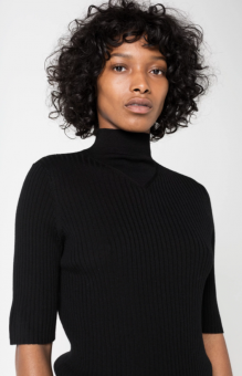 ALLY MERINO WOOL TOP BLACK