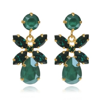 MINI DIONE EARRINGS / ROYAL GREEN