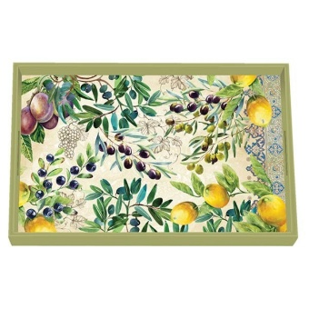 Tuscan Grove Decoupage Wooden Vanity Tray