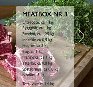 Meatbox #3 - Nötbox med entrecote m.m