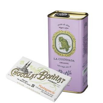Prisbelönt olivolja + choklad