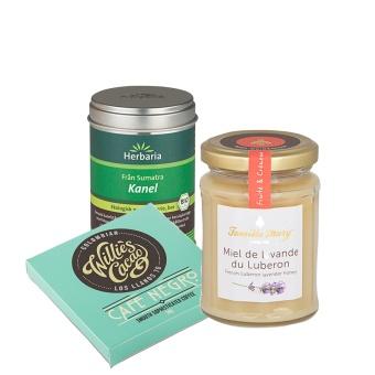 Honung + kanel + choklad