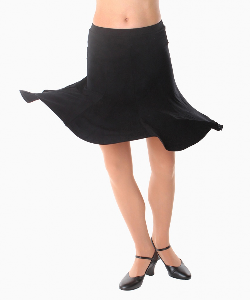 2037V Utsvängd kjol viskos