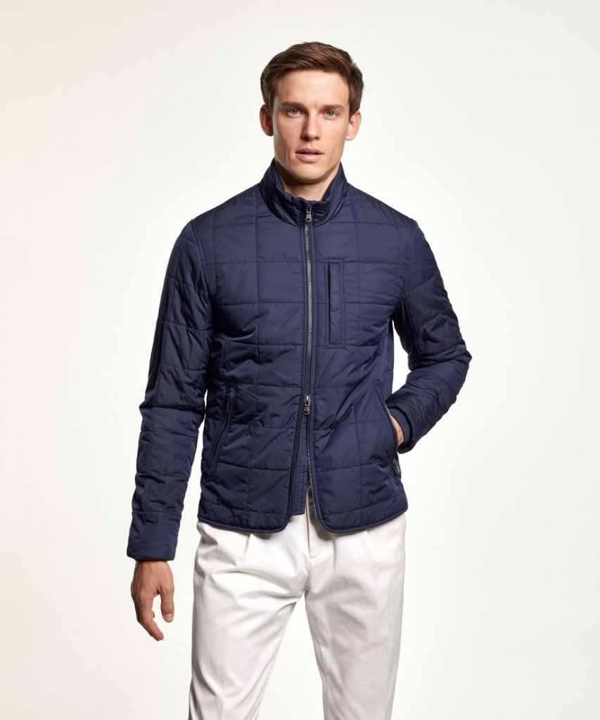 Morris Crew Quilted jacket Blue