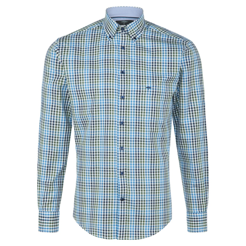 Fynch Hatton Supersoft Twill Shirt Clover Blue