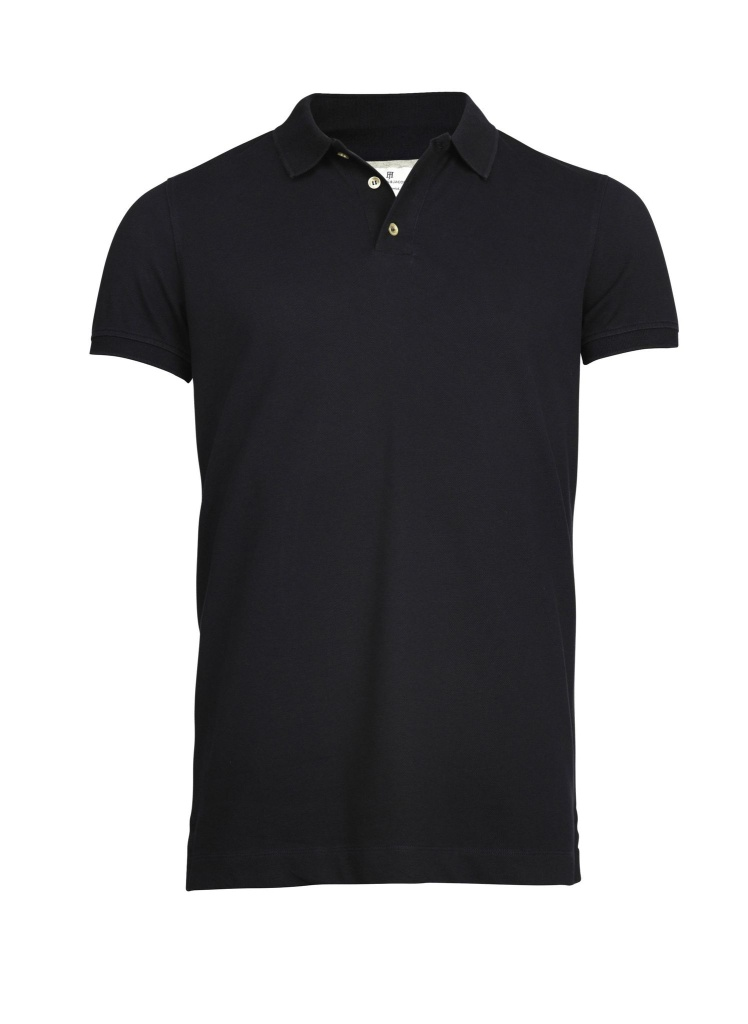 Hansen&Jacob Pique Stretch Polo Navy