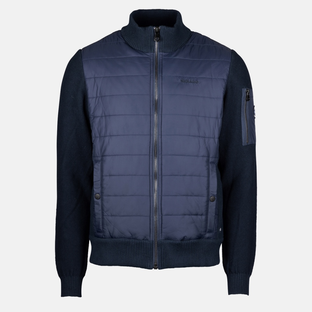 Sebago Hybrid knit Jacket Navy
