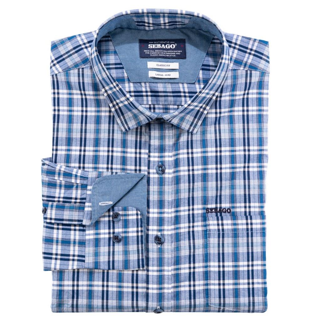 Sebago Small Checked Shirt blue/Navy