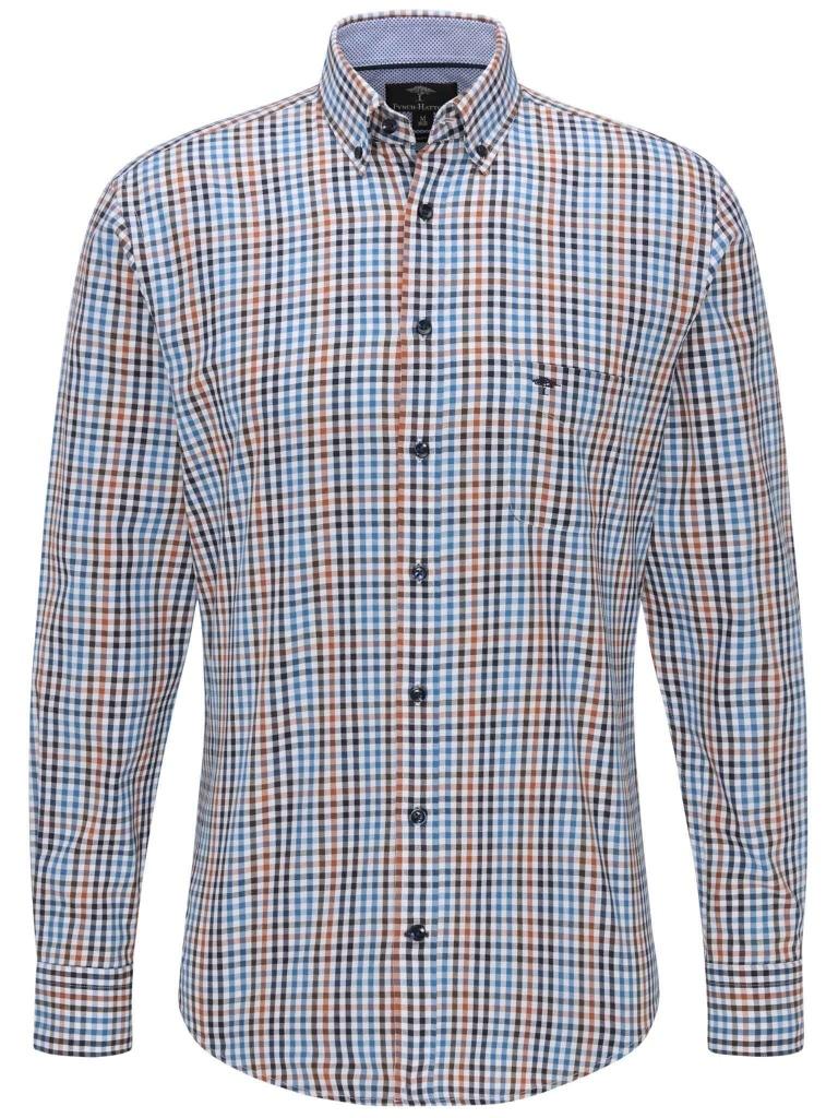 Fynch Hatton Supersoft Twill Shirt Sienna Blue