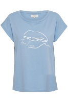 Cream Veliga T-shirt Silver Lake Blue