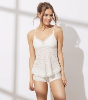 Odd Molly lace oddity tank top Light chalk