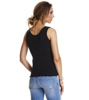 Odd Molly rib-eye tank Almost Black