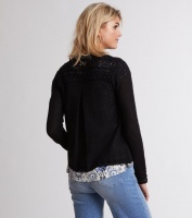 Odd Molly Sum up Cardigan Black