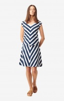 Boomerang Antonia Pique Top Stripe Bright Nautic