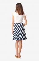 Boomerang Elina Pique Skirt Bright Nautic